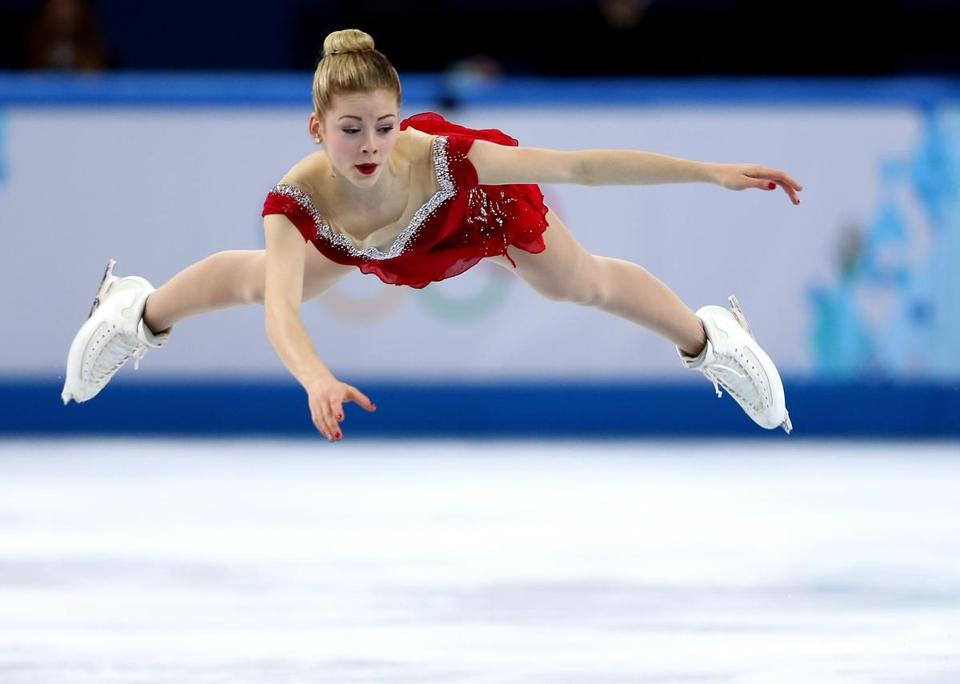 Gracie Gold of Chicago defied gravity as she took flight in the women's short program en route to a fourth-place finish.